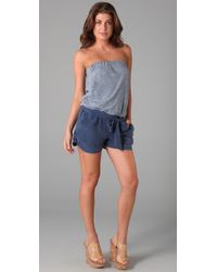 7 For All Mankind | Blue Sahara Romper | Lyst