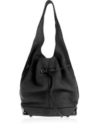 Alexander Wang Black Robyn Textured-leather Hobo Bag
