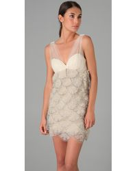 Alice + Olivia - White Brianne Embellished Dress - Lyst