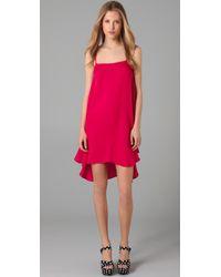 Alice + Olivia | Pink Cammie Trapeze Slip Dress | Lyst