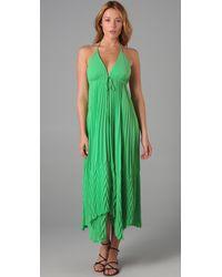Alice + Olivia | Green Adalyn Keyhole Maxi Dress | Lyst