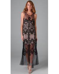BCBGMAXAZRIA | Black Victoria Embroidered Gown | Lyst