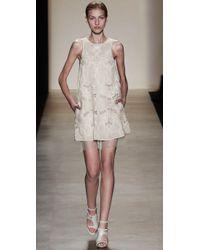 BCBGMAXAZRIA - White Simona Embroidered Dress - Lyst