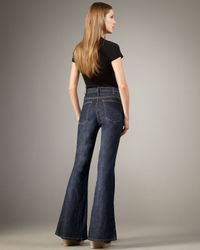 Current/Elliott - Blue High-waist Bell-bottom Patriot Jeans - Lyst