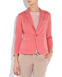 Current/Elliott Pink The Academy Cotton-twill Blazer