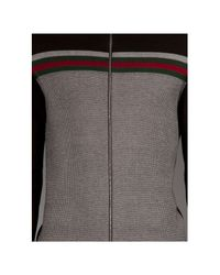 Gucci Gray Zip Front Cardigan for men