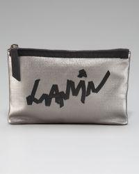 Lanvin Metallic Logo-ribbon Pouchette