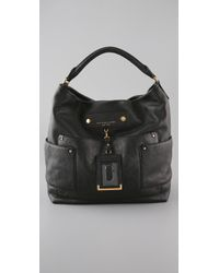 Marc By Marc Jacobs Black Preppy Leather Faridah Bag