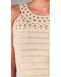 MILLY - White Crochet Dress - Lyst