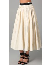Plein Sud | White Tea Length Skirt | Lyst