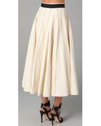 Plein Sud - White Tea Length Skirt - Lyst