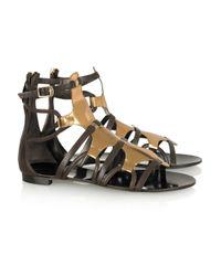 Roberto Cavalli Metallic Patent-leather Gladiator Sandals