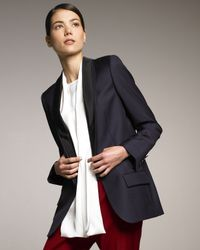 Stella McCartney | Blue Triple-lapel Tuxedo Jacket | Lyst