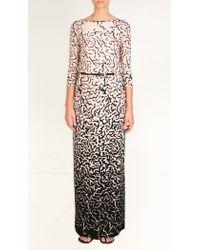 Tibi - Black Ocelot Long Dress - Lyst