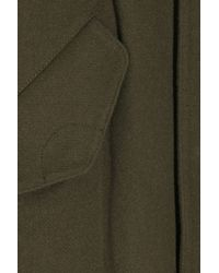Vince Green Wool-blend Hooded Anorak