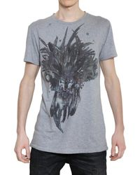 Balmain | Gray Grey S/s T-shirt with Wolf Print for Men | Lyst