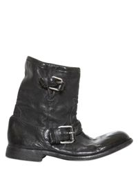 Casadei Black Side Zip Nappa Biker Boots