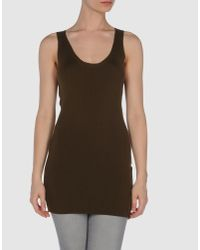 Ermanno Scervino | Brown Sleeveless T-shirt | Lyst