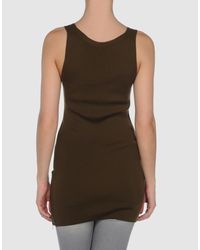 Ermanno Scervino - Brown Sleeveless T-shirt - Lyst