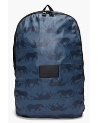 Marc By Marc Jacobs Blue Panther Print Backpack for men