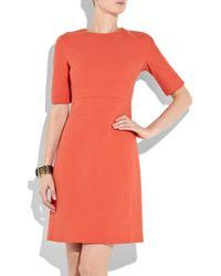 Michael Kors Orange Bouclé Wool-blend Shift Dress