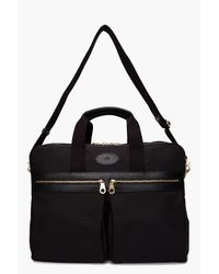 Mulberry Black Henry Overnight Briefcase for men