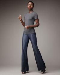 PAIGE Blue Bentley Hanalei Wide-leg Jeans