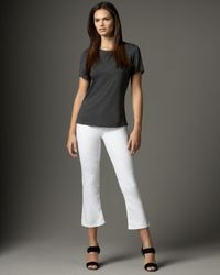 Sold Denim Astor Place Pull-on Cropped Jeans, White