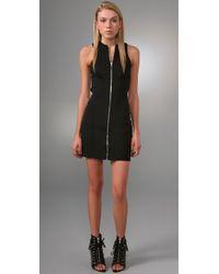 Alexander Wang | Black Ponte Dress with Crisscross Back | Lyst