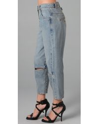 Alexander Wang - Blue Jeans with Knee Slit - Lyst
