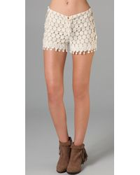 Anna Sui | Natural Circle Lace Shorts | Lyst