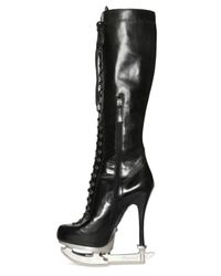 DSquared² Black 160mm Calf Laced Ice Skate Boots