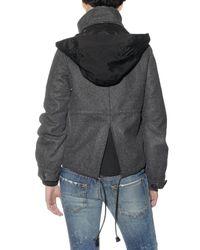 DSquared² | Gray Wool Felt Coat | Lyst
