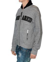 DSquared² | Gray Dsquared Melange Cotton Sweatshirt for Men | Lyst