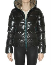 Duvetica | Black Thia Hooded, Quilted Short Down Jacket | Lyst
