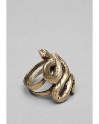 Elizabeth and James | Metallic Snake Ring | Lyst