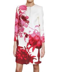 Giambattista Valli | White Floral Print Coat | Lyst