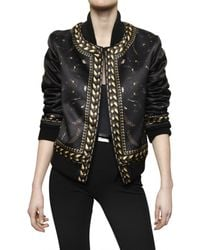 Givenchy - Black Ribbed Polyester Duchesse Blouson - Lyst