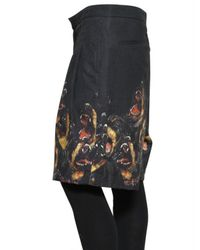 Givenchy - Black Rottweiler Felted Gabardine Shorts for Men - Lyst