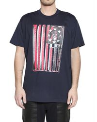 Givenchy | Blue American Flag T–shirt for Men | Lyst