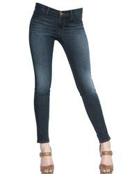 J Brand | Blue Women's Mid Rise Super Skinny Jeans | Lyst