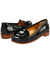 kate spade new york - Connie - Black Patent Bow Loafer - Lyst