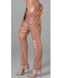 Sass & Bide Metallic Spare Thoughts Foil Pants