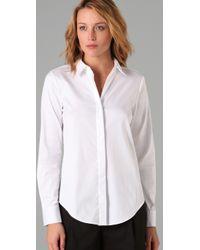 Theory - White Notin Shirt - Lyst