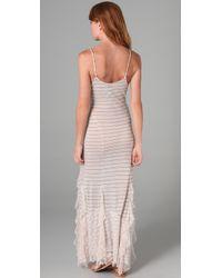 Free People - White Striped Maxi Dress - Lyst