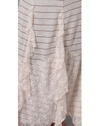 Free People | White Striped Maxi Dress | Lyst