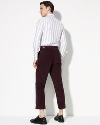 Thom Browne - Red Cuffed Moleskin Pants for Men - Lyst