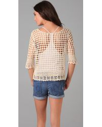 Dallin Chase - Natural Steward Crocheted Top - Lyst
