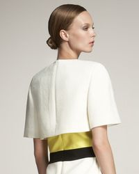 Giambattista Valli | White Short-sleeve Capelet | Lyst