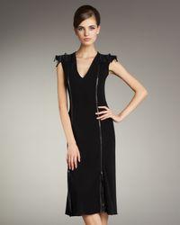 Jean Paul Gaultier | Black Zip-detail Jersey Dress | Lyst